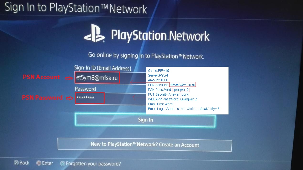 psn console login flowchart