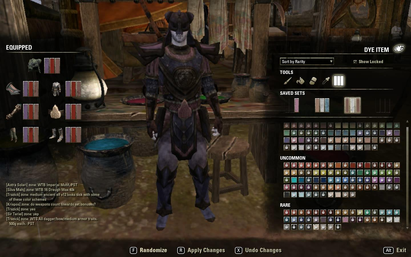 First Experience of ESO Armor Dyes in Patch Notes v1.3.3