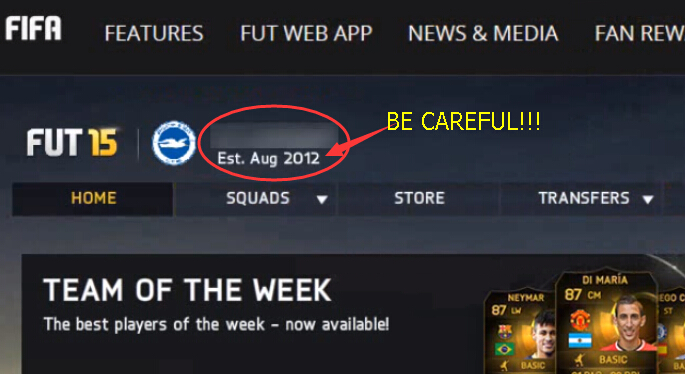 BE CAREFUL! FAKE SITE FOR FIFA 15
