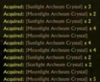 harvesting Archeum crystals