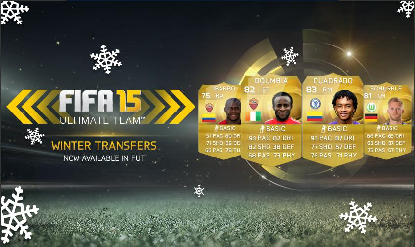 fifa 15 winter transfers update & price of players - doumbia