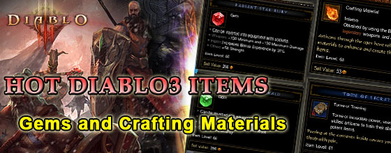 diablo 3 Gems or Crafting Materials