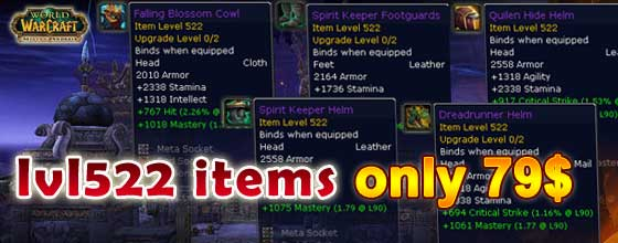 lvl522 Items Hot Sale