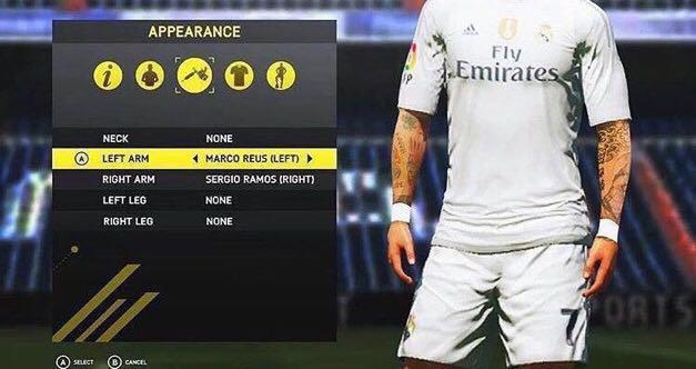FIFA 17 Pro Clubs Appearance