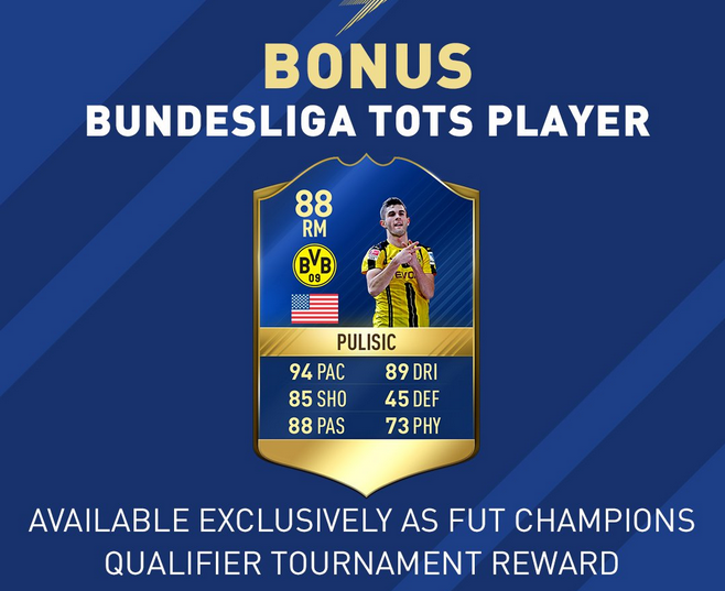 FIFA 17 Bundesliga TOTS Bonus Player - Pulisic