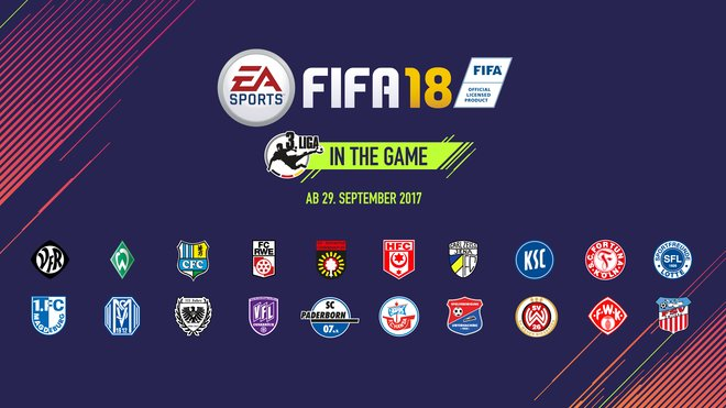 FIFA 18 German 3. Liga and DFB Cup